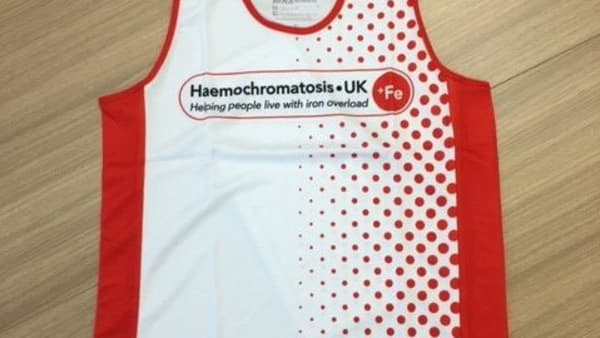 Haemochromatosis UK Running Vest (Unisex) MEDIUM